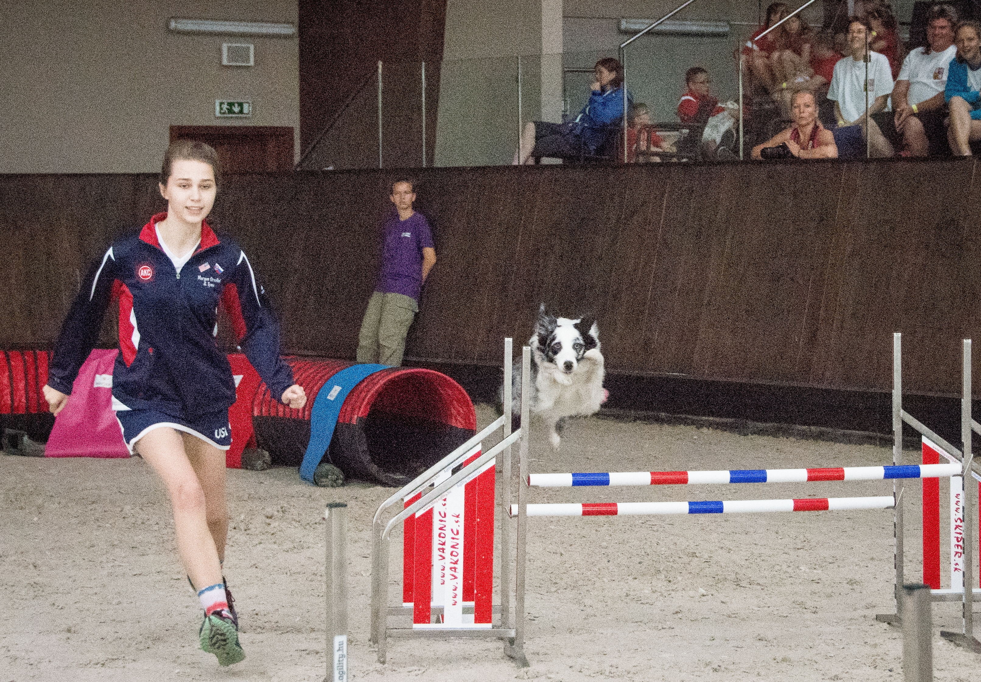 LOCAL TEEN COMPETES IN EUROPEAN OPEN DOG AGILITY